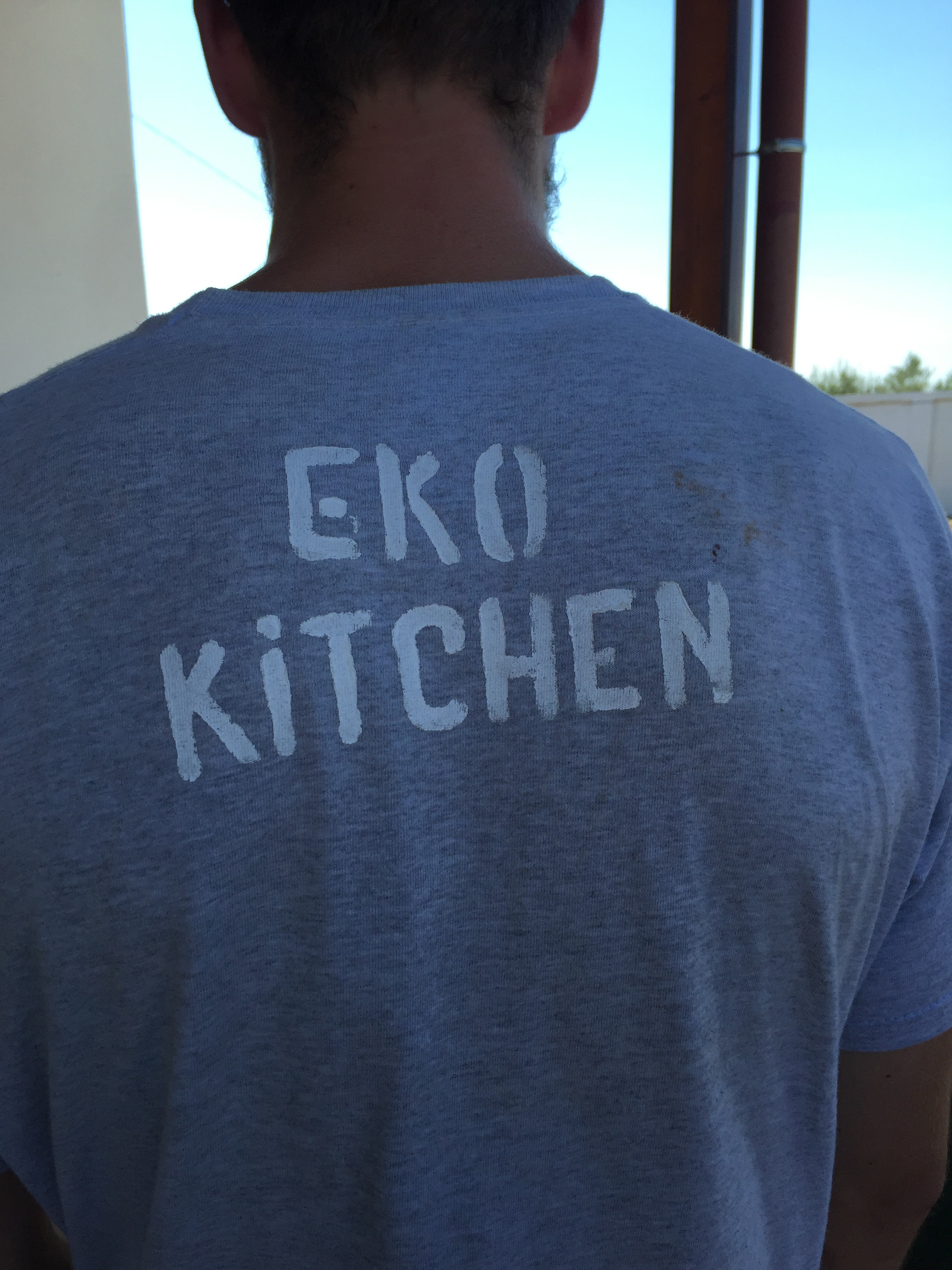 Josh from EKO Kitchen shows off his merch